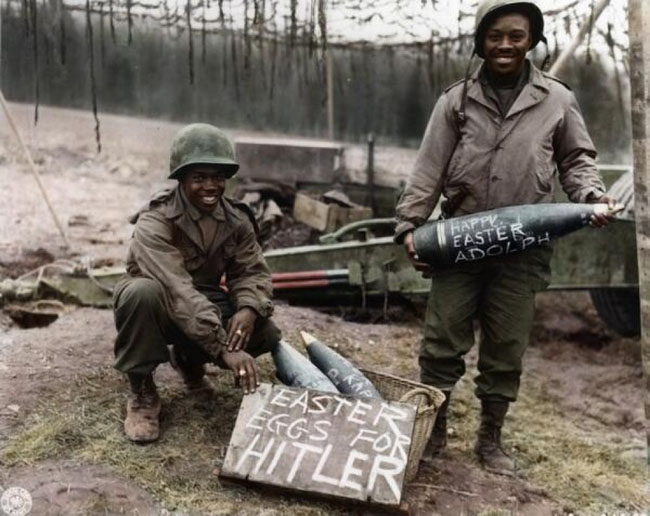 World War 2 soldiers on Easter