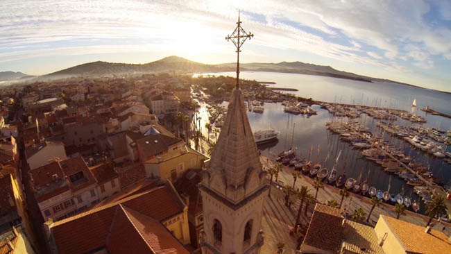Beautiful view of Sanary-sur-mer, France
