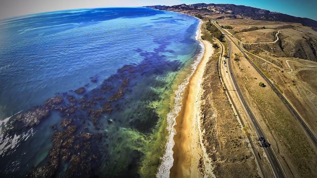 The Goleta Coastline, California.