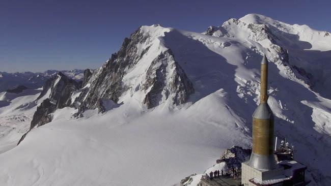 Aiguille du midi, Massif du Mont Blanc, Chamonix, France.