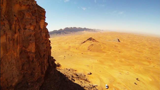 Fossil Rock in Dubai, United Arab Emirates.