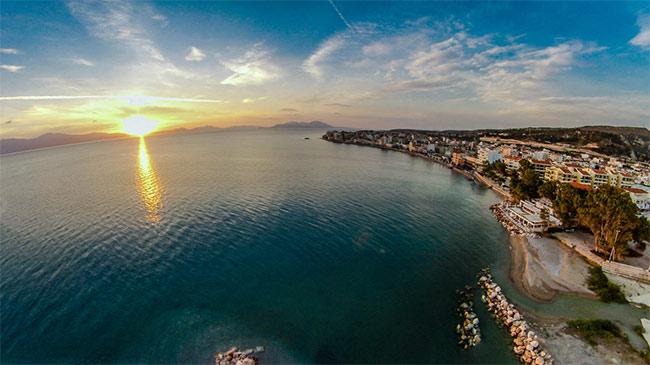 Xylokastro sunrise, Greece.