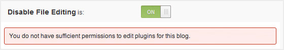 Disable Template File Editing Through WP Dashboard
