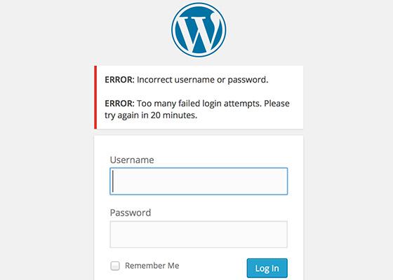 Limit User Login Attempts