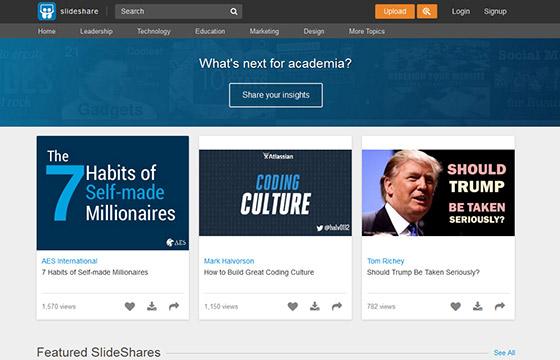 Social Media Tools - Slide Share
