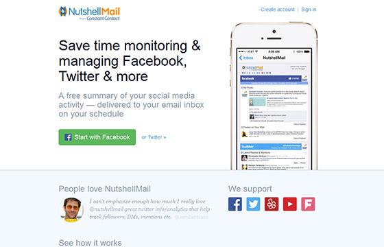 Social Media Tools - Nutshell Mail