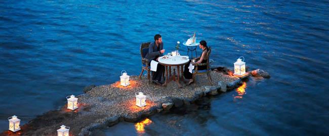 Romantic time in Mykonos, Greece.