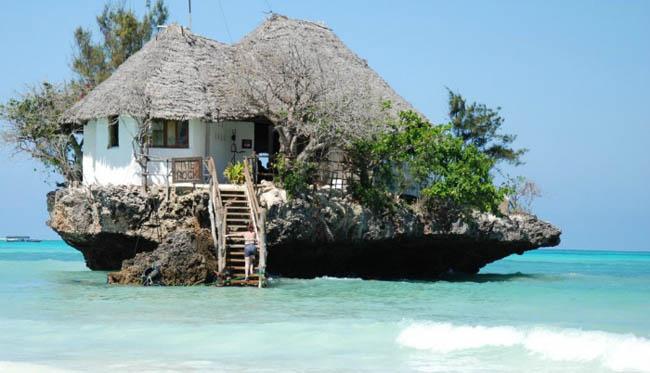 The Rock in Zanzibar, Tanzania.