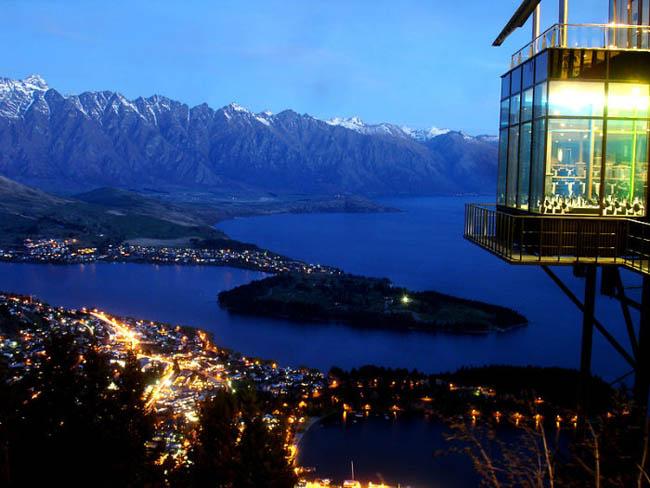 Skyline Restaurant in Queenstown, New Zealand.