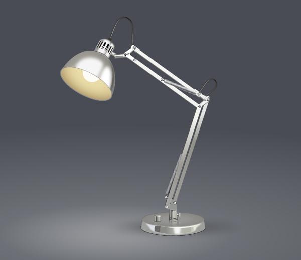 Create a Desk Lamp in Illustrator - Final Result