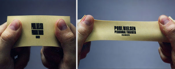 Personal trainer's business card.