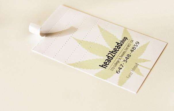 Cigarette filter business card.