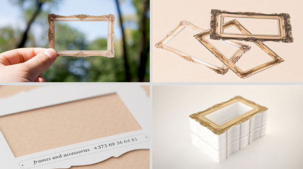 Picture frame business cards.