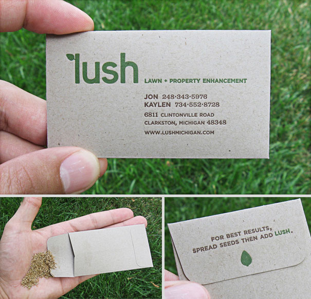 Seed packet to make your lawn more Lush.