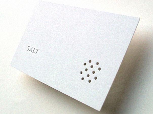 Restaurant Salt Shaker Business Card