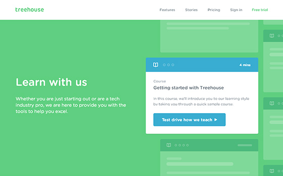 Unconventional ways to learn web design and development - Treehouse