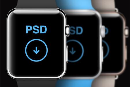 instantShift - Beautiful Apple Watch Mockup PSD Designs
