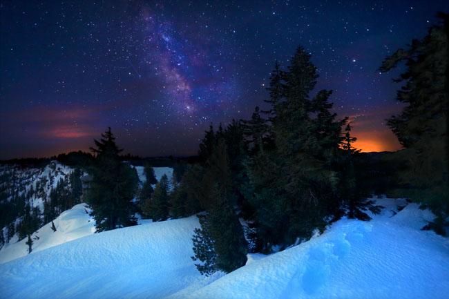 Night Sky at Crater Lake, USA