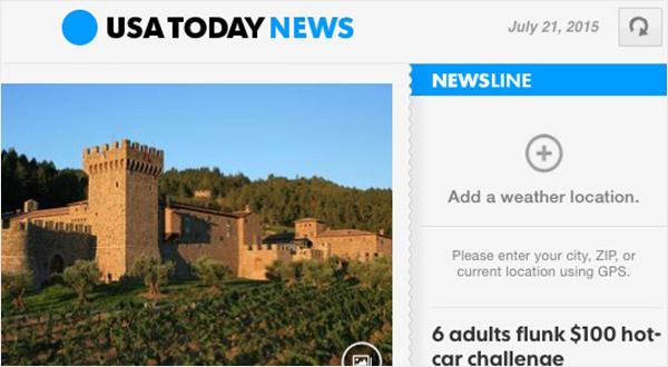 USA Today iPad app - refreshing