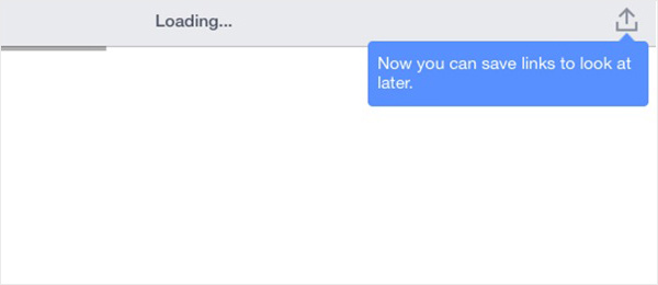 Facebook iPad app - notify users of new features