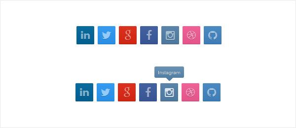 Free HTML CSS3 Social Media Buttons