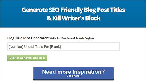 Blog title generator by Inbound Now