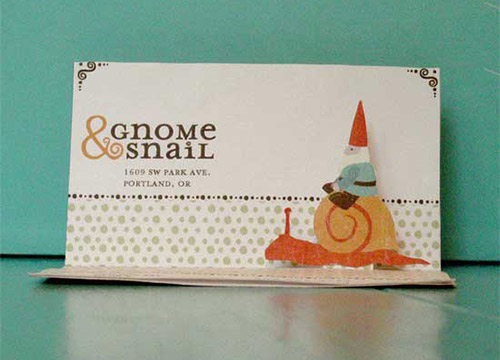 Gnome Snail Business Cards