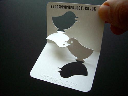 Popupology Lovebirds Business Card