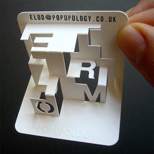 Popupology 3D Business Card