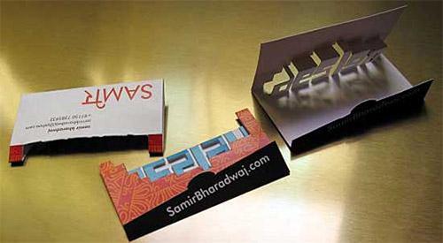 Samir Bharadwaj Pop-Up Business Card
