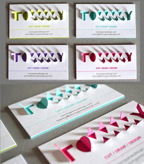 Amazing 3D Pop Up Typography Business Card