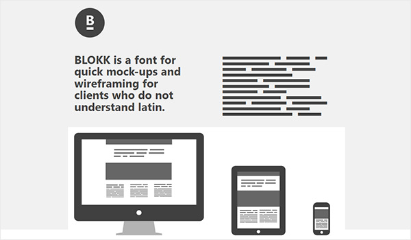 Blokk Font