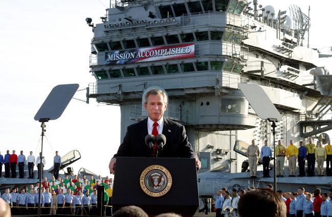 President Bush addresses sailors