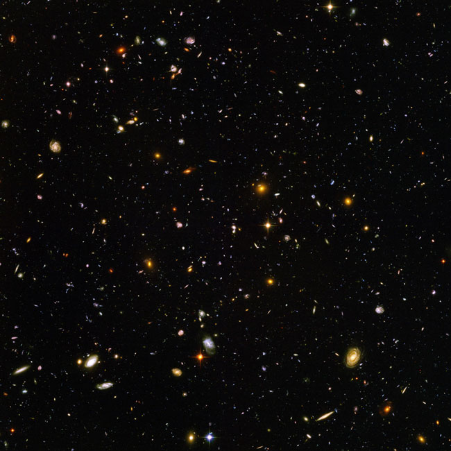 21st century photos - The Hubble Telescope takes a picture of what the universe looked like 13 billion years ago [2004]