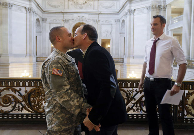 21st century photos - Capt. Michael Potoczniak marries his partner Todd Saunders, in a ceremony in San Francisco.