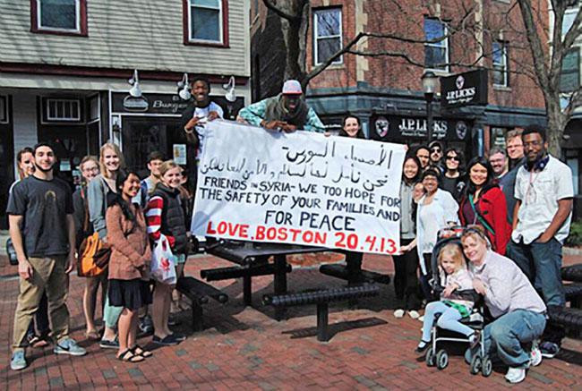 21st century photos - Boston replied with their own message. [2013]