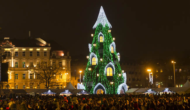 Cathedral Square of Vilnius, Lithuania