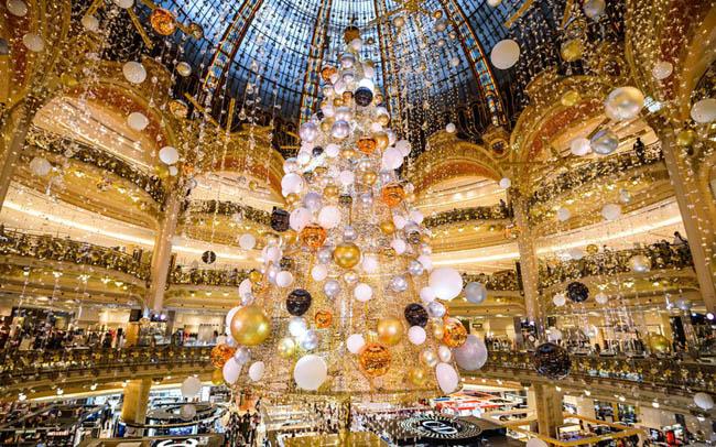 Galeries Lafayette department store in Paris, France