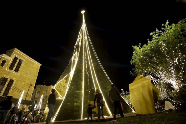 Christmas tree in Byblos, Lebanon