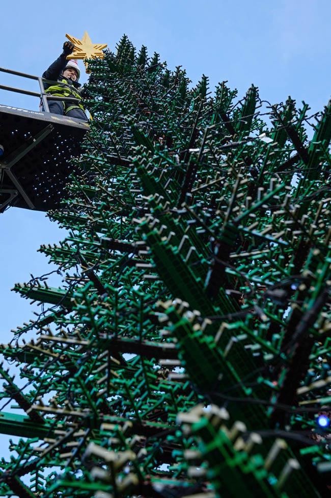Giant LEGO Tree at Legoland Windsor Resort, west of London
