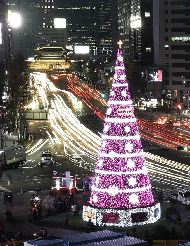 Christmas Tree at Seoul City Hall Plaza, South Korea