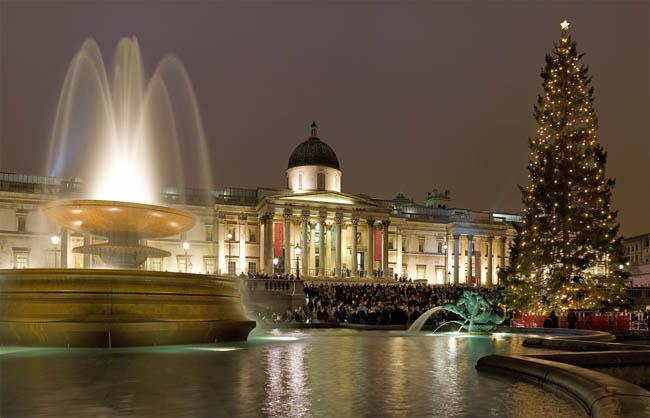 Christmas Carols at Trafalgar Square, London, UK