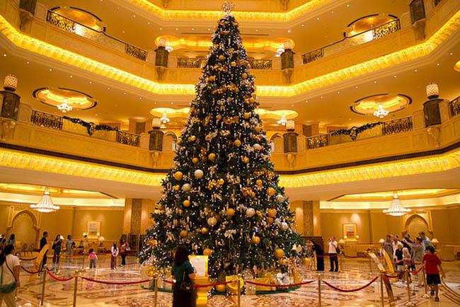 Christmas tree at Emirates Palace Hotel, Abu Dhabi, UAE