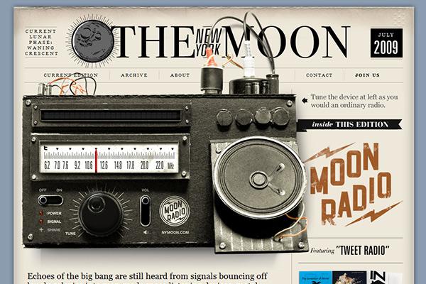 Navigation of Moon Radio