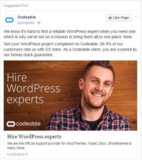 Codeable.io remarketing ad