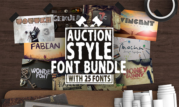 Auction Font Bundle
