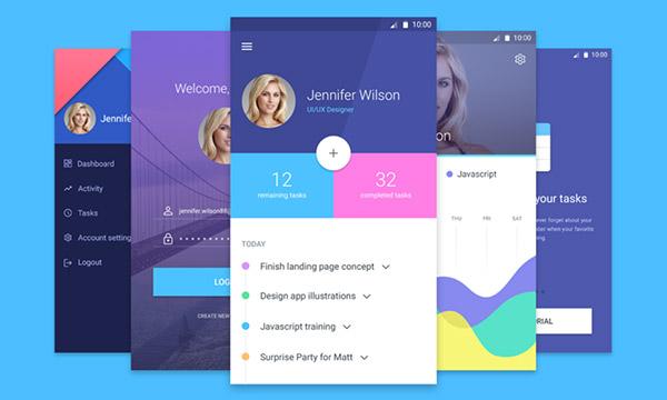 Android Material Design App Screens