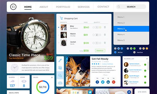 Online Shopping/Social UI Kit