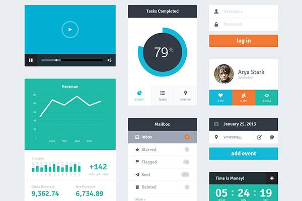 Flat Design UI kit