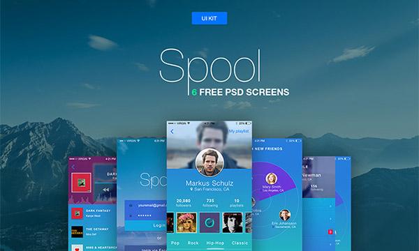 Free Android app screens UI kit